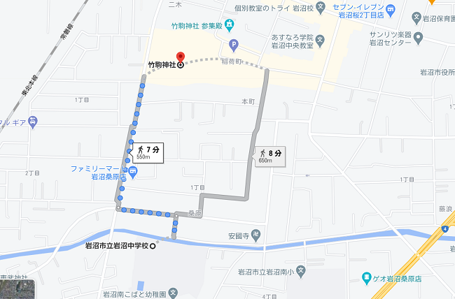 竹駒神社 初詣駐車場①