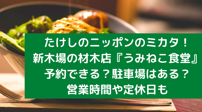 たけしのニッポンのミカタ 新木場 榎戸材木店 うみねこ食堂 予約 駐車場