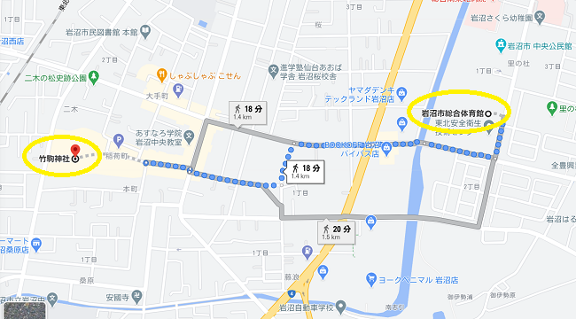竹駒神社 初詣駐車場9