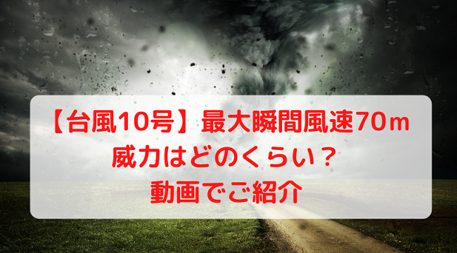 風速70メートル 動画 台風10号