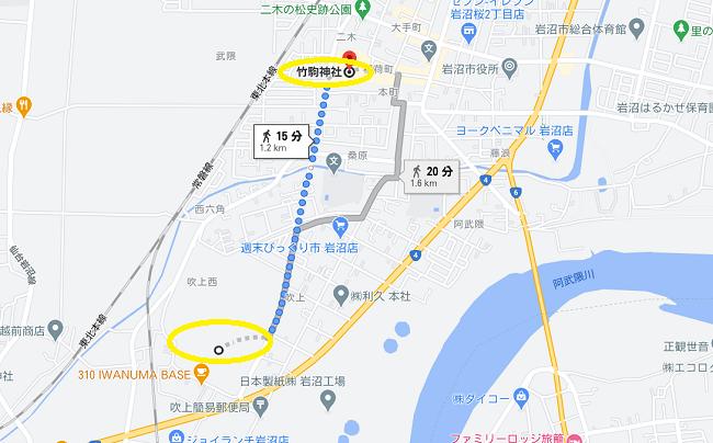 竹駒神社 初詣駐車場⑥